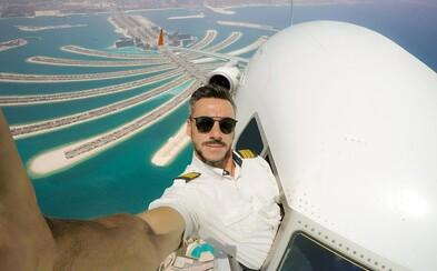 Brazilský pilot sdílí na Instagramu fenomenální fotografie. Mnozí stále nedokáží pochopit, že jeho selfies jsou fotomontáže