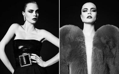 Britská kráska Cara Delevingne sa po dlhšej pauze vracia k modelingu prostredníctvom skvelých čiernobielych záberov