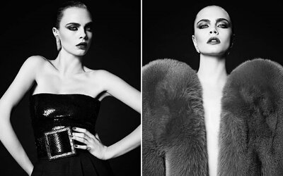 Britská kráska Cara Delevingne se po delší pauze vrací k modelingu prostřednictvím skvělých černobílých záběrů