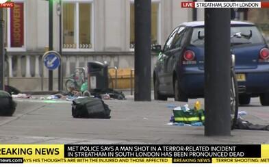 Britská policie zastřelila muže, který nožem pobodal několik lidí. Čin vyhodnotila jako teroristický útok