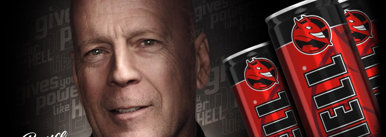 Bruce Willis vymenil kávu za energetické nápoje. HELL ENERGY ho obsadilo do reklamy natočenej s najlepším štábom v New Yorku