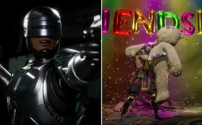 Brutální bojovka Mortal Kombat 11 vyráží dech novým trailerem. Hrát budeš moct za Robocopa a dostaneme rozšíření příběhu