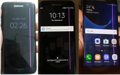 Bude Samsung čeliť novému problému? Na displeji Galaxy S7 edge sa používateľom zobrazuje ružový pásik