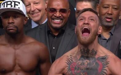 """""""Bude to môj aj McGregorov posledný zápas v živote."""" Váženie pred súbojom storočia sa nezaobišlo bez provokácií a ostrých slov"""