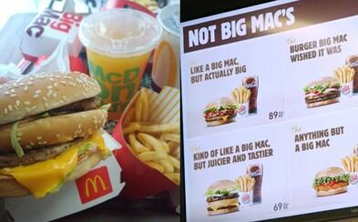Burger King si znovu utahuje z McDonald's. Mekáč přišel o ochrannou známku na Big Mac, což mu dal konkurent sežrat