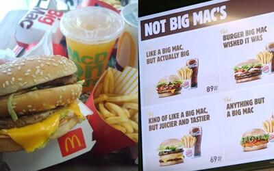 Burger King si znovu uťahuje z McDonald's. Mekáč stratil ochrannú známku na Big Mac, čo mu konkurent dal poriadne pocítiť