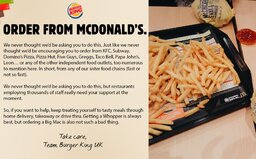 Burger King vyzývá své zákazníky, aby si objednali burger z McDonald's