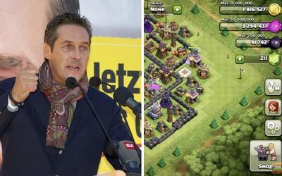Bývalý rakouský politik je prý závislý na Clash of Clans. Ze stranických peněz měl ve hře utrácet 3 tisíce eur měsíčně