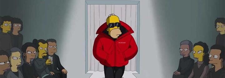 Simpsonovi v kouscích Balenciaga. Módní dům představil novou kolekci vlastní epizodou seriálu