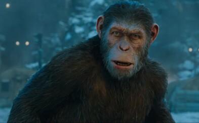 Caesar je pripravený na Vojnu o planétu opíc. Veľkolepý trailer očakávaného blockbusteru však jasne dáva najavo, že ľudia odmietajú prehrať