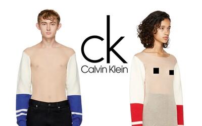 Calvin Klein predstavil kompletne priehľadný sveter za 1800 eur. Ženy ani muži si pod ním svoje bradavky neskryjú
