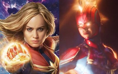 Captain Marvel lieta vo vesmíre a úderom päste ničí vesmírne lode