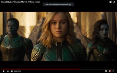 Captain Marvel ukazuje svoju božskú silu vo veľkolepom traileri pre osudový vesmírny epos od Marvelu