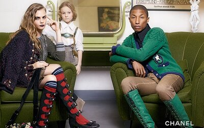 Cara Delevingne a Pharrell Williams v novej kampani Chanel