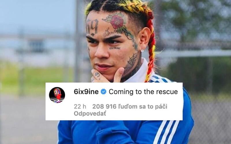6ix9ine je späť na Instagrame a trolluje. Chce pomôcť udať všetkých, ktorí porušujú karanténu počas pandémie.