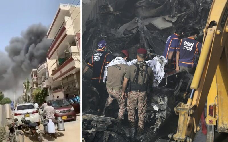 Pákistánské letadlo se před nehodou pokusilo o přistání na břiše, manévr poškodil oba motory.