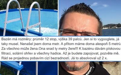 Čech na Facebooku vtipne predáva bazén, z ktorého už takmer nervovo skolaboval. Inzerát sa rýchlo stal hitom internetu