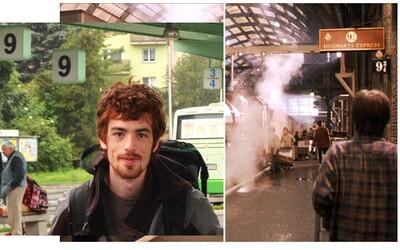 Čech objevil světoznámé nástupiště 9¾ z Harryho Pottera v Liptovském Mikuláši. Vtipná momentka rychle začala kolovat po internetu