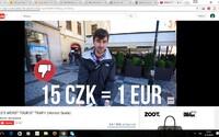 Čech varuje cizince před turistickou pastí v Praze. Směnárna dává za euro jen 15 korun a autorovi hrozí vězením