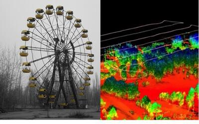 Černobyl je pořád smrtelně nebezpečný. Znepokojující červené barvy naznačují, že se oblast vyčistí až za desetitisíce let