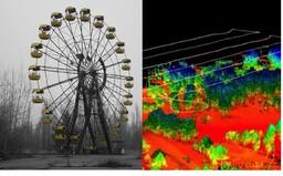Černobyľ je stále smrteľne nebezpečný. Znepokojujúce červené farby naznačujú, že sa oblasť vyčistí až za desaťtisíce rokov