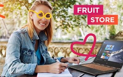 Čerstvo otvorený Fruitstore prináša bohatú ponuku IT výbavy pre študentov vrátane súťaže o šikovný notebook a gamerský headset