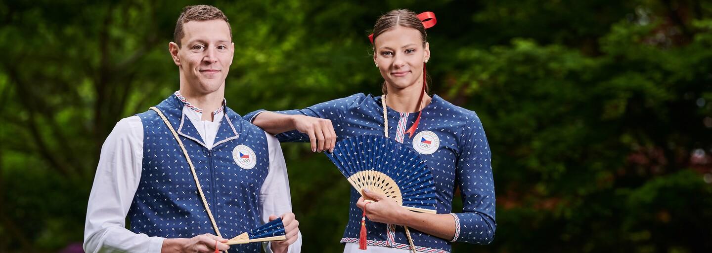Češi vyrazí na olympiádu v Tokiu ve speciálních krojích s modrotiskem