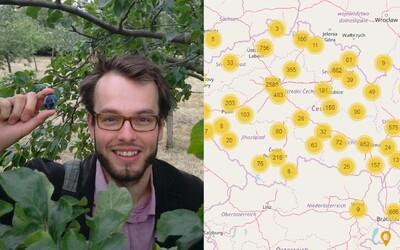Češi vytvořili mapu, kde najdeš volně rostoucí ovoce a byliny. Jsou v ní tisíce míst Česka a Slovenska