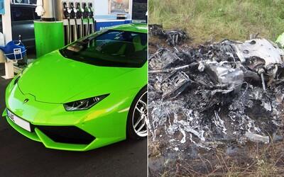 České, nedávno dovezené Lamborghini Huracán, zhorelo do tla. Ide o prvú haváriu Huracánu na svete!