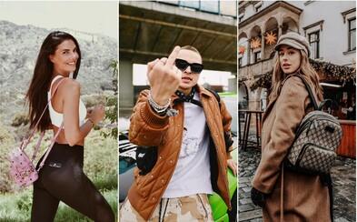 Českí a slovenskí influenceri obľubujú luxusné ľadvinky a batohy klasických značiek. Toto je ich najobľúbenejšia príručná batožina