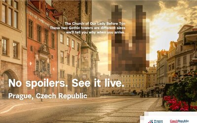 Česko spouští v New Yorku kampaň na přilákání turistů do Prahy a středních Čech. Zahrnuje asi 1000 reklamních pozic