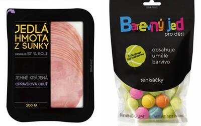 Český dizajnér prebalil tradičné výrobky do úprimnejších obalov. Nikto nechce jesť plast s príchuťou syra či farebný jed