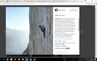 Český horolezec zdolal v rekordním čase nejtěžší stěnu na světě. Na vrchol se dostal jen vlastní silou