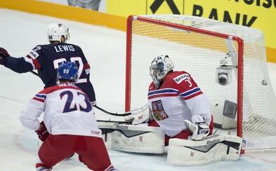 Čeští hokejisté nestačili na výběr Spojených států a v posledním zápase mistrovství podlehli o tři góly