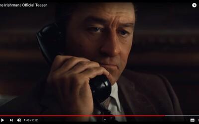 CGI omladení Robert De Niro a Al Pacino zabíjajú grázlov ako klasickí mafiáni v prvom traileri pre Irishmana