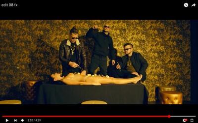 Chalani z H16 si vo videoklipe Sofistikovaný vychutnávajú sushi z polonahého ženského tela