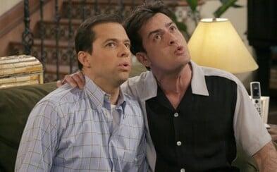 Charlie a Alan v trojke alebo 10 šialene zábavných scén z Dva a pol chlapa