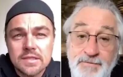 Chceš hrát ve filmu s Leonardem DiCapriem a Robertem De Nirem? Slavní herci v době pandemie pomáhají virální výzvou