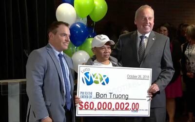 Chlapík v loterii tipoval tytéž čísla 20 let, díky vytrvalosti nakonec vyhrál 60 milionů dolarů