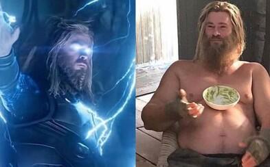 Chris Hemsworth bojoval za to, aby bol Thor v Endgame tučný počas celého filmu