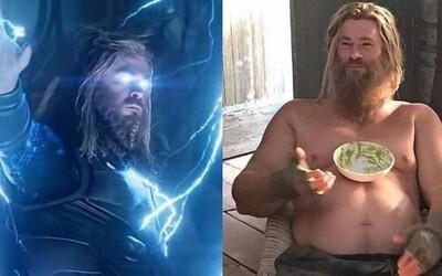 Chris Hemsworth bojoval za to, aby byl Thor v Endgame tlustý v průběhu celého filmu