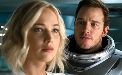 Chris Pratt a Jennifer Lawrence musí odhalit spiknutí na lodi přepravující lidi na jinou planetu