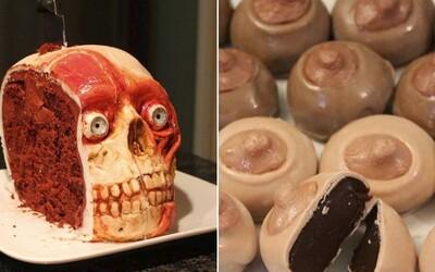 Chutia božsky, no vyzerajú naozaj nechutne. Katherine vyrába sladké torty v tvare pohlavných orgánov, pavúkov či odrezaných hláv
