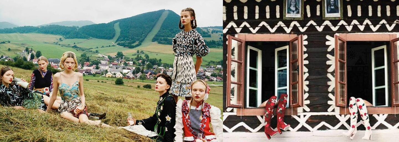 Čičmany a s nimi aj kúsok slovenskej kultúry sa vďaka fotografovi Michalovi Pudelkovi nachádzajú na stránkach prestížneho Vogue
