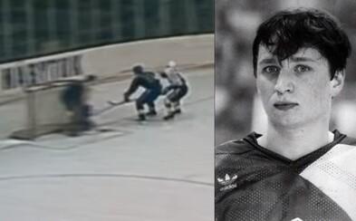 Čierny deň československého hokeja. Neštastný pád Ľudka Čajku zarmútil obe krajiny