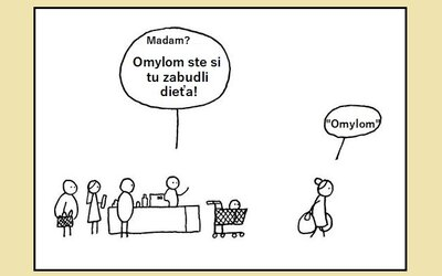 Čierny humor od islandského zabávača znázornený na jednoduchých komiksoch. Ak sa zasmeješ, vstupenku do pekla máš istú