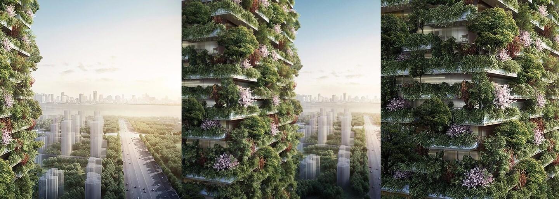 Čína bojuje so smogom stavbou vertikálneho lesa. Budovy pokryté stromami a kvetmi budú vytvárať kyslík a zároveň pohlcovať oxid uhličitý
