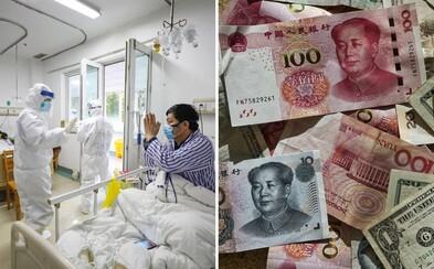Čína kvůli koronaviru Covid-19 likviduje bankovky. Vytiskla už 600 miliard nových jüanů