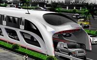 Čína predstavuje futuristický autobus: Prekoná všetky zápchy?