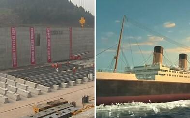 Čína staví repliku Titaniku ve skutečné velikosti. Nakonec ho nechá i potopit díky profesionální simulaci